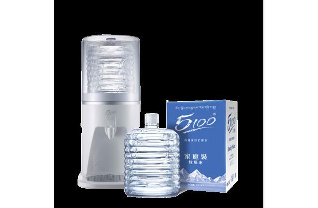 20桶 x 12L 5100家庭装软包桶装水 + Q5 5100专用台式室温饮水机